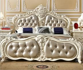 Solid Wood Bed Fashion European French Carved Bedside 1 8 M Bed 2415 Wood Bed Design Solid Wood Bed Leather Bed Frame
