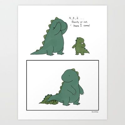 Hide and Seek Art Print by Liz Climo - $18.00