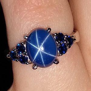 Vintage Linde Lindy 8x6mm Cornflower Blue Star Sapphire Etsy In 2020 Star Sapphire Jewelry Star Sapphire Ring Blue Star Sapphire Ring