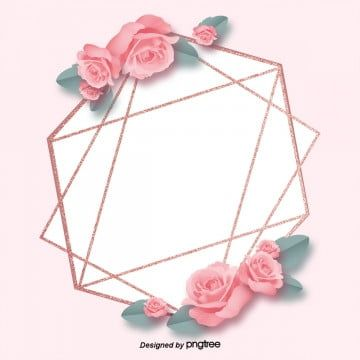 Rose Gold Pink Rose Geometric Decoration High End Border Background Effect Geometry Luxurious Png Transparent Clipart Image And Psd File For Free Download In 2020 Geometric Decor Rose Gold Pink Pink