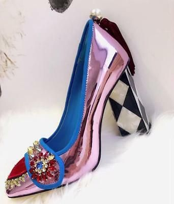 Womens Metallic Purple Shoes Rivet