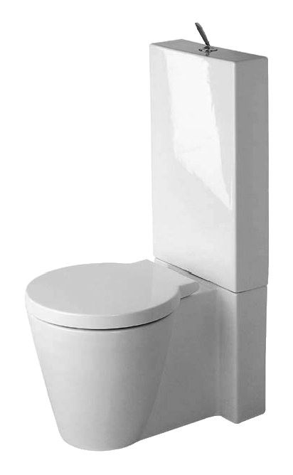 Duravit Starck 1 Stand Wc Kombination 415 X 640 Mm Weiss Alpin Stand Wc Duravit Waschschale