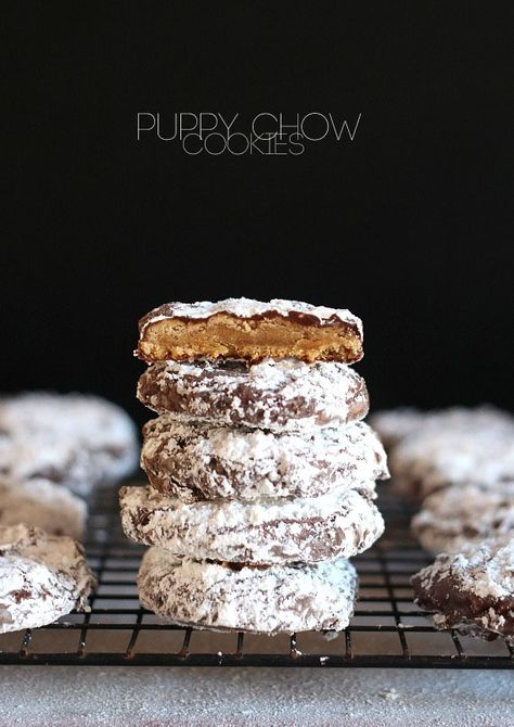 Puppy Chow Cookies.. A cookie made in the same idea as the popular snack mix!
