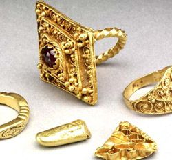 The 'West Yorkshire Hoard' - six extremely rare pieces of gold jewellery dating from the seventh to 11th centuries