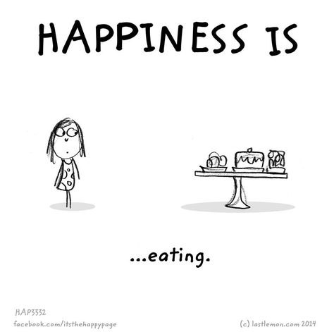 Happiness is eating