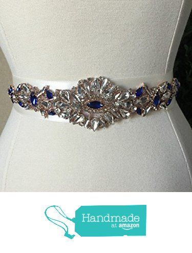 Royal Blue And Rose Gold Bridal Sash Wedding Dress Sash Belt