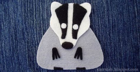 Felt or applique badger pattern