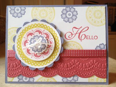 Lacy and Lovely, Delicate Designs embossing folder, Large Scallop edgelit - Catherine Loves Stamps