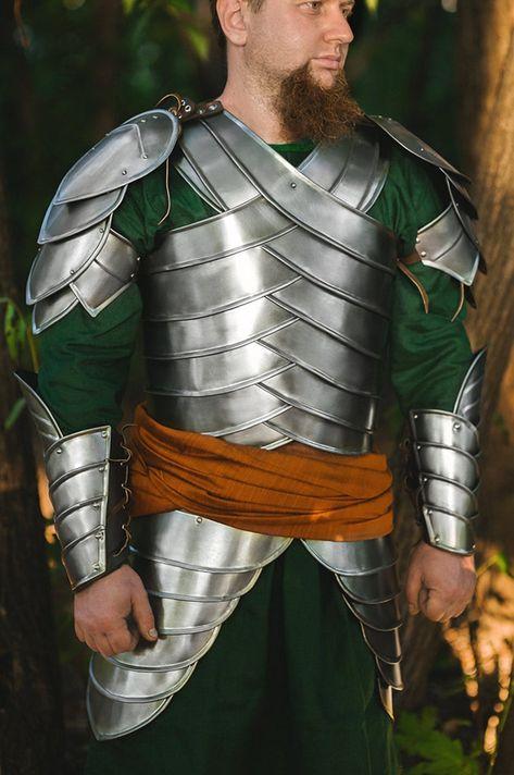 LARP Steel Armor Second Age Elves Full Set : Pauldrons   Etsy