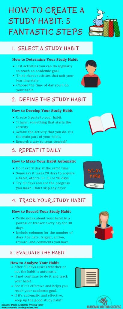 How To Create A Study Habit 5 Fantastic Steps Check Out This Blog Post And Learn How You Can Create A Study Effective Study Tips Exam Study Tips Study Skills