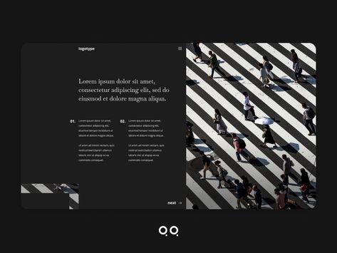 Social media homepage design