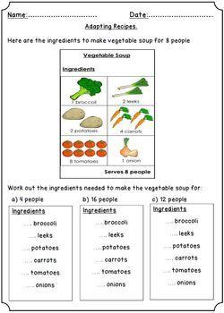 Ratios In Recipes Multiplication Division Food Recipes