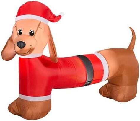 Airn Inflatable Weiner Dachshund Dog 4 New Gemmy