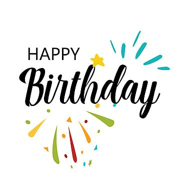 Card With Calligraphy Lettering Happy Birthday Vector Illustration In Scandinavian Style Vector Birthday Icons Style Icons Happy Icons Png And Vector With Birthday Icon Happy Birthday Calligraphy Happy Birthday