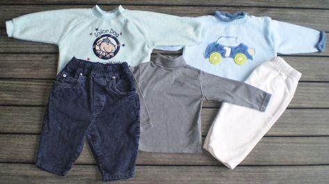 Vêtements Bébé Lettre Motif Fourchette Petits Garçons 3 Pièces Conton Souple