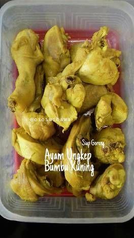 Resep Ayam Ungkep Bumbu Kuning Siap Goreng Oleh Cici Wibawa Resep Memasak Makanan Resep Ayam