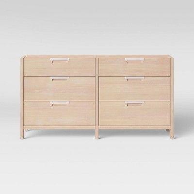 Porto 6 Drawer Dresser Bleached Wood Project 62 Target