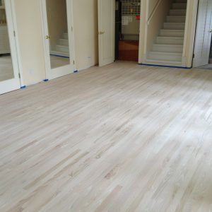 Bleached Oak Wood Floors White