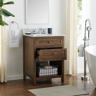 Home Decorators Collection Sedgewood 24 In W X 18 In D Vanity In Dove Gray With Arctic Top Grey Bathroom Vanity Bathroom Vanity Tops Small Bathroom Vanities