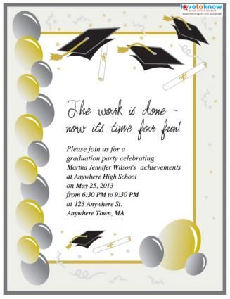 Save Money with These Free, Printable Graduation Invitations - flyer invitation templates free