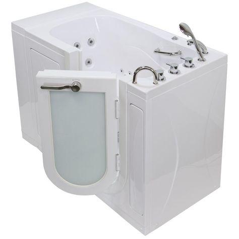 Ella 52 In Malibu Economy Acrylic Walk In Whirlpool Tub In White