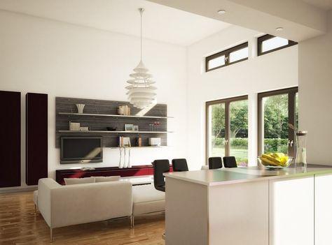 Wohnzimmer Ideen mit offener Küche - Bungalow Haus innen Evolution - wohnzimmer mit offener küche gestalten