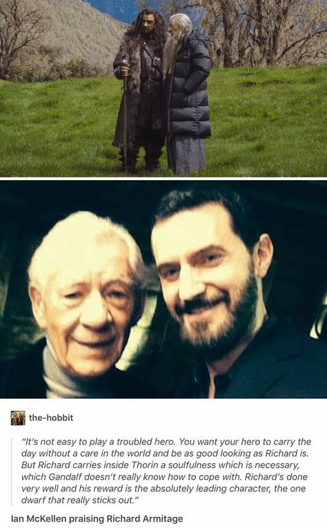 Ian McKellen on Richard playing Thorin Thorin Oakenshield, Kili, Bagginshield, Concerning Hobbits, J. R. R. Tolkien, Desolation Of Smaug, Middle Earth, Lord Of The Rings, Narnia
