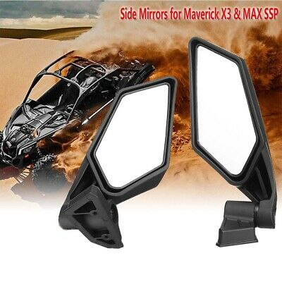 Ebay Advertisement Pair Racing Side Mirrors For Can Am Maverick X3 Max 2017 2018 Utv Off Road K Side Mirror Can Am Ebay