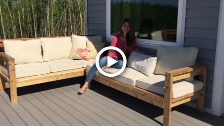 How To Build A 2x4 Outdoor Sectional Tutorial Outdoor Sofa Diy Diy Outdoor Furniture Outdoor Sectional Sofa