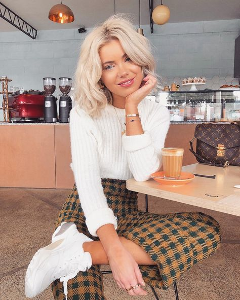 Happy Monday ☕️ Wearing one of my fave knits from my collection ❄️😋