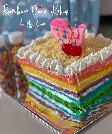 Resep Rainbow Cake Kukus Ala Ny Liem Oleh Sukma Cuisine Resep Kue Resep Cheddar