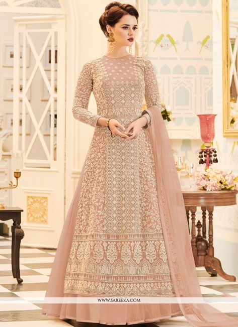 Buy salwar kameez online from an endless collection of latest salwar suit. Shop snazzy embroidered and resham work floor length anarkali suit for festival, party and wedding.