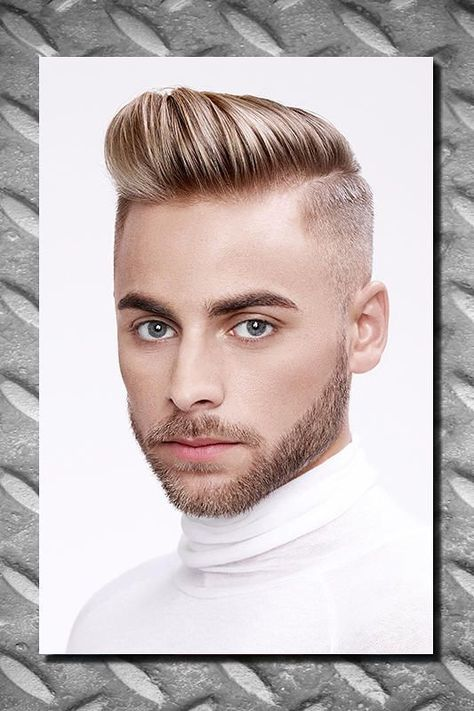Mannerfrisuren undercut blond