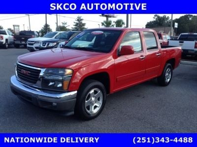 2012 Gmc Canyon 2wd Crew Cab Sle1 Fire Red Pickup 4 Doors