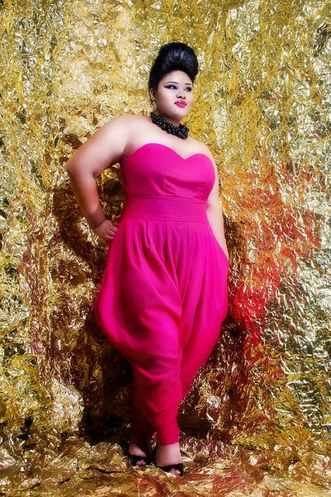 I would rock this..    http://www.etsy.com/listing/85255253/jibri-plus-size-sweetie-jumpsuit-pink