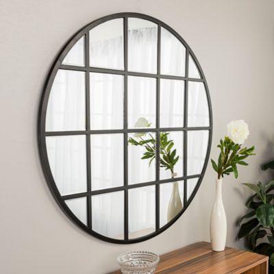 Walker Edison 40 Round Beveled Window Mirror Reviews Home Macy S Window Mirror Home Decor Unique Mirrors