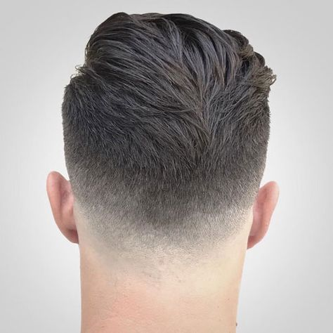 Back And Neckline Of Pomp Haircut Haircut Neckline Pomp Pompadour Fade Pomp Haircut Pompadour Fade Haircut