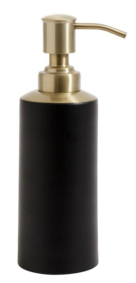 Seifenspender Schwarz Mit Goldenen Details In 2020 Mit Bildern Seifenspender Seifenspender Schwarz Seife