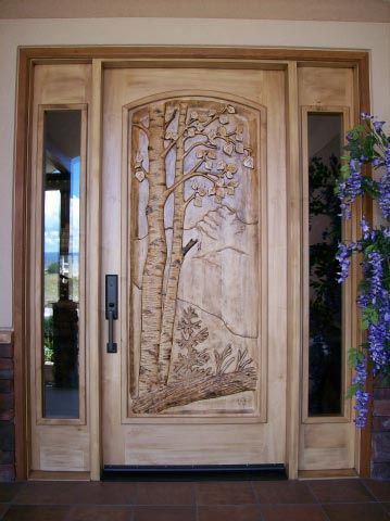 Amazing Front Door Wood Carving
