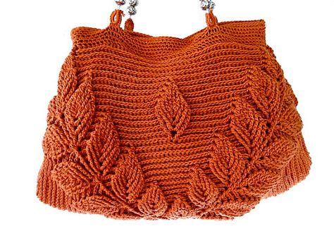 Brown knit purse