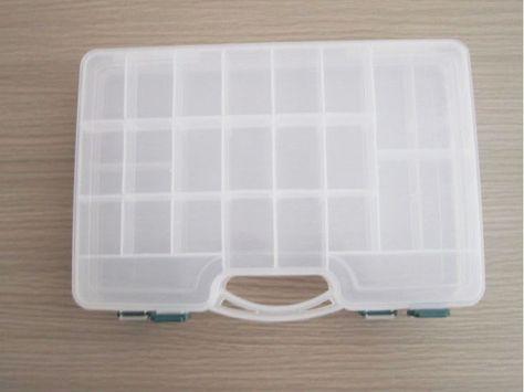 transparent fishing lure tackle hook bait plastic storage box container case J/&S