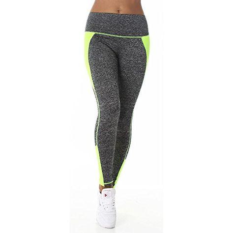 d665f77a4ea9 Damen Fitness Leggings Schlank Capris Pants Yoga Hosen Casual Running  Sportbekleidung. YR.Lover