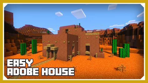 Minecraft How To Build An Adobe House Tutorial Easy Survival Minecraft Minecraft House Tutorials Minecraft Houses Blueprints Minecraft Houses