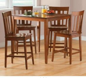 Mainstays 5 Piece Counter Height Dining Set Counter Height