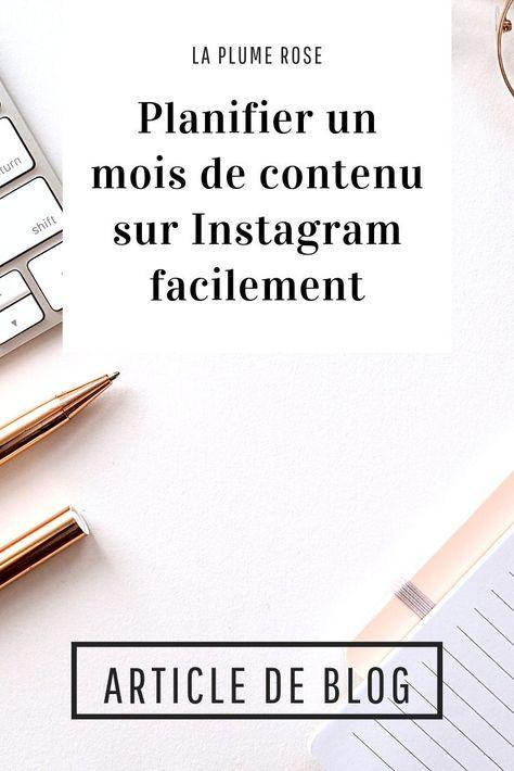 Planifier un mois de contenu sur Instagram + freebie a télécharger !