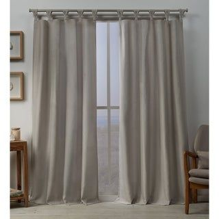 Exclusive Home Curtains Whitby Metallic Slub Yarn Textured Silk Look Window Curtain Panel Pair with Grommet Top 54x96 2 Piece Winter White