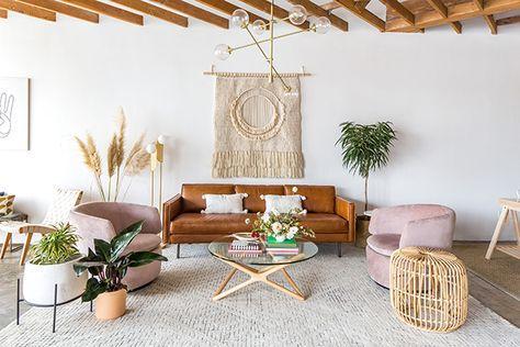 Décoration du salon, Los Angeles - LA style living room