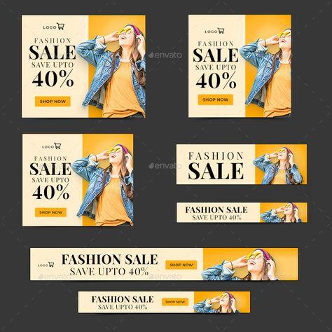 Fashion Sale Web Banner Set #Sale, #Fashion, #Web, #Set