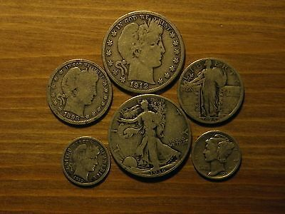 Standing Liberty Quarter CULL Coin 90/% SILVER Old US Coins 1916-1930 1