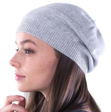 78a6366409bf6 cashmere 4 U 100% Cashmere Beret Hat for Women